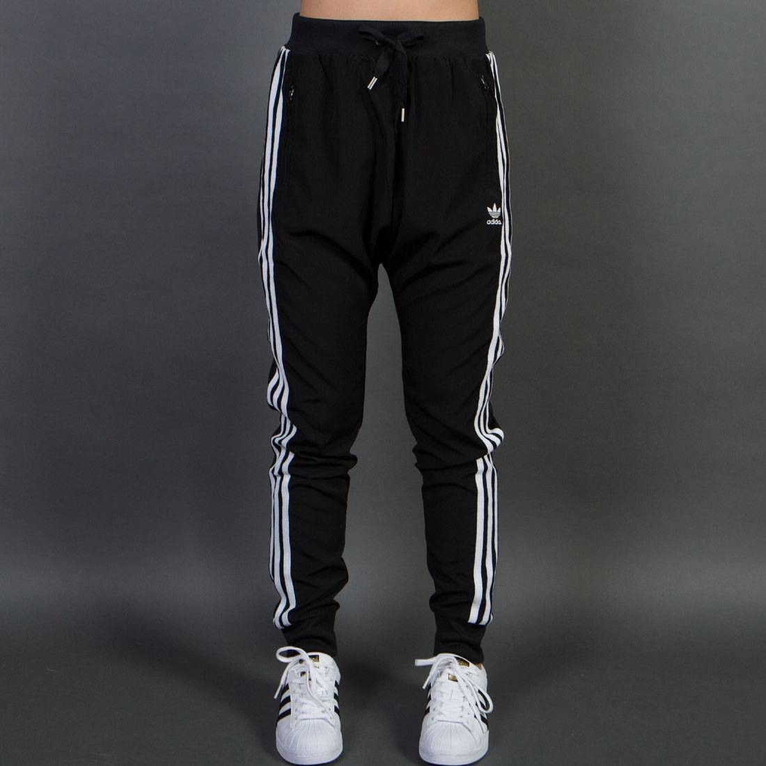 Adidas Women Drop Crotch Pants black 7b793ad28