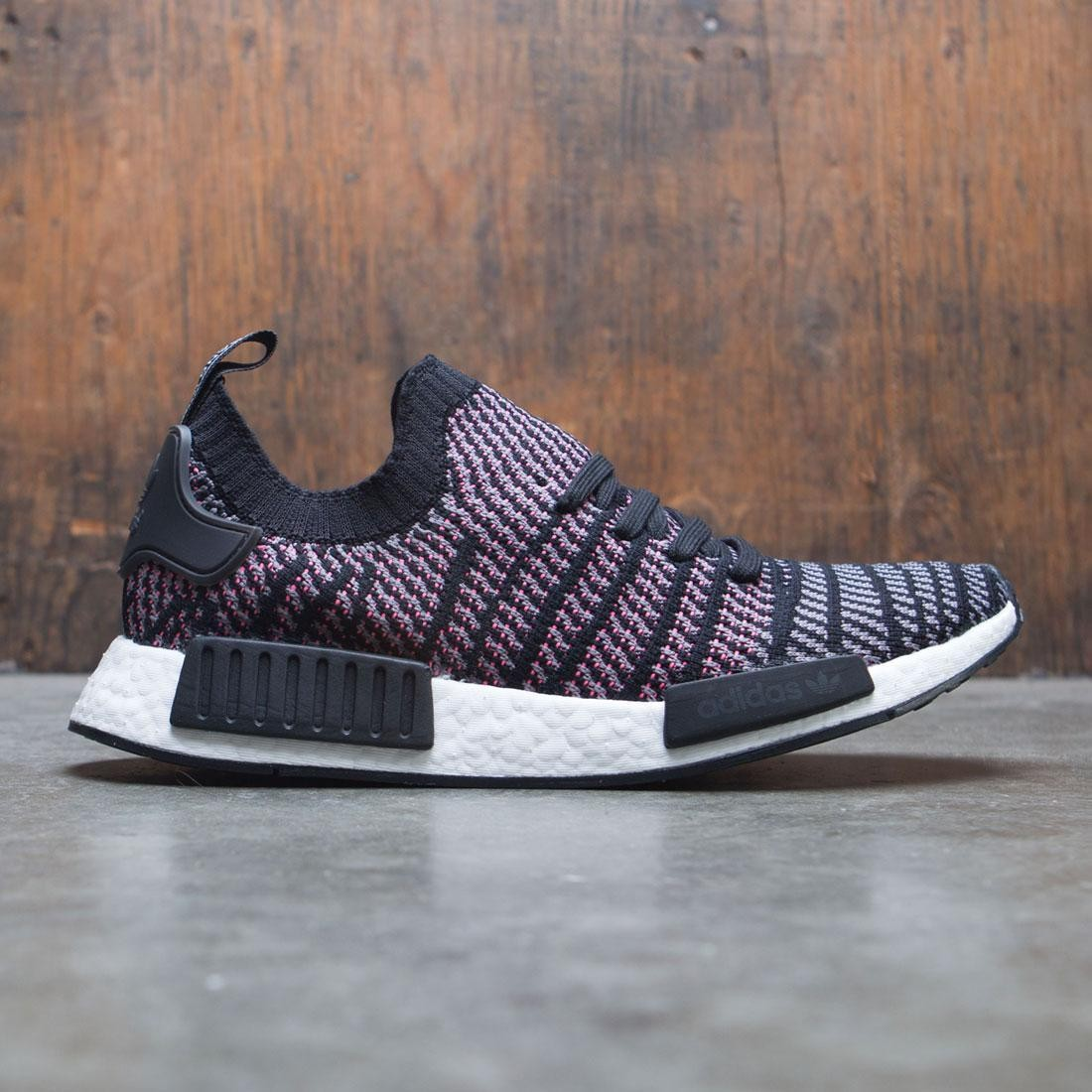 best value f8f66 e4438 Adidas Men NMD R1 STLT Primeknit (black / grey four / solar pink)