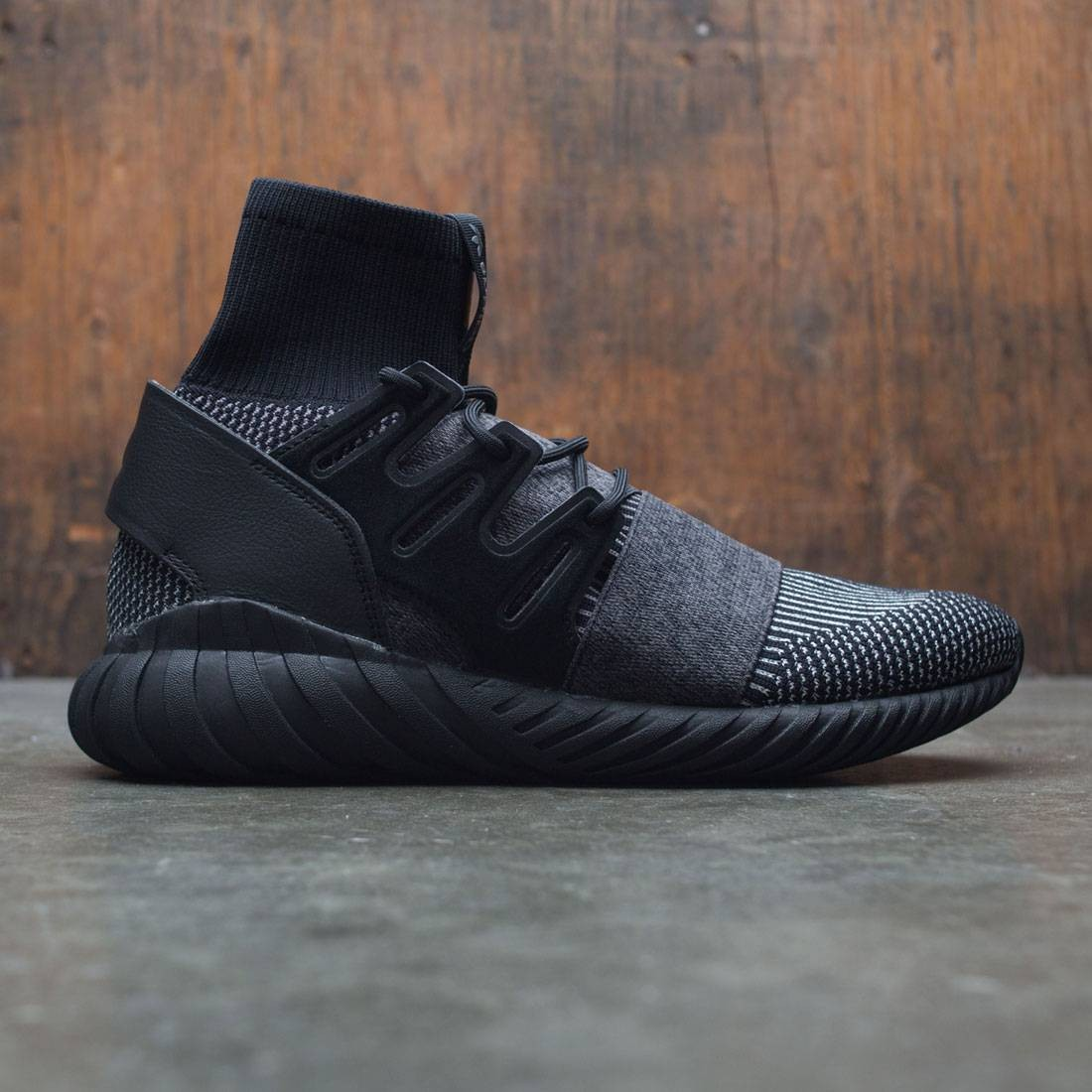 8b771312a0cc Adidas Men Tubular Doom Primeknit black core black grey four