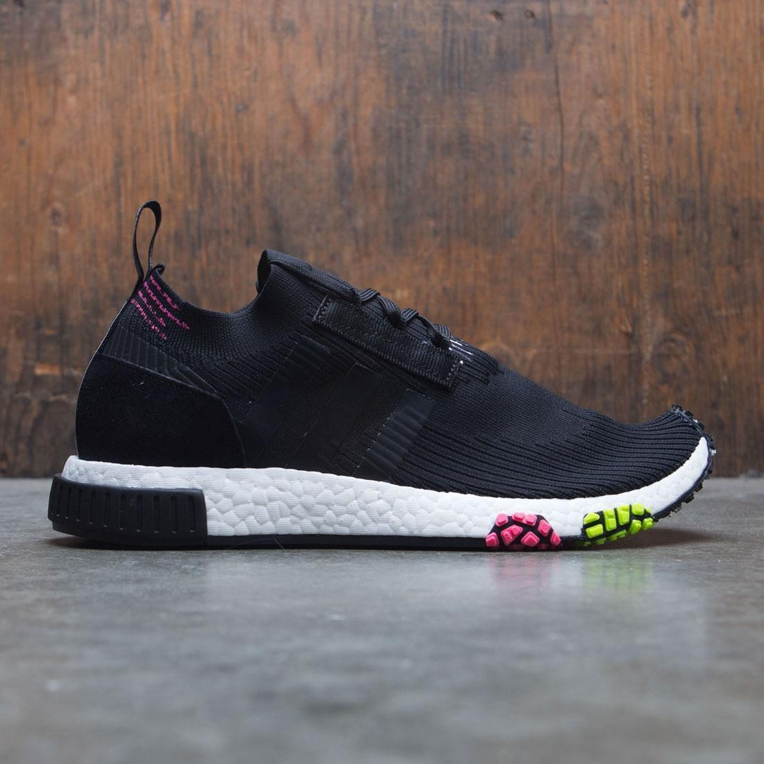 huge selection of 21e3a 58744 Adidas Men NMD Racer Primeknit black core black solar pink