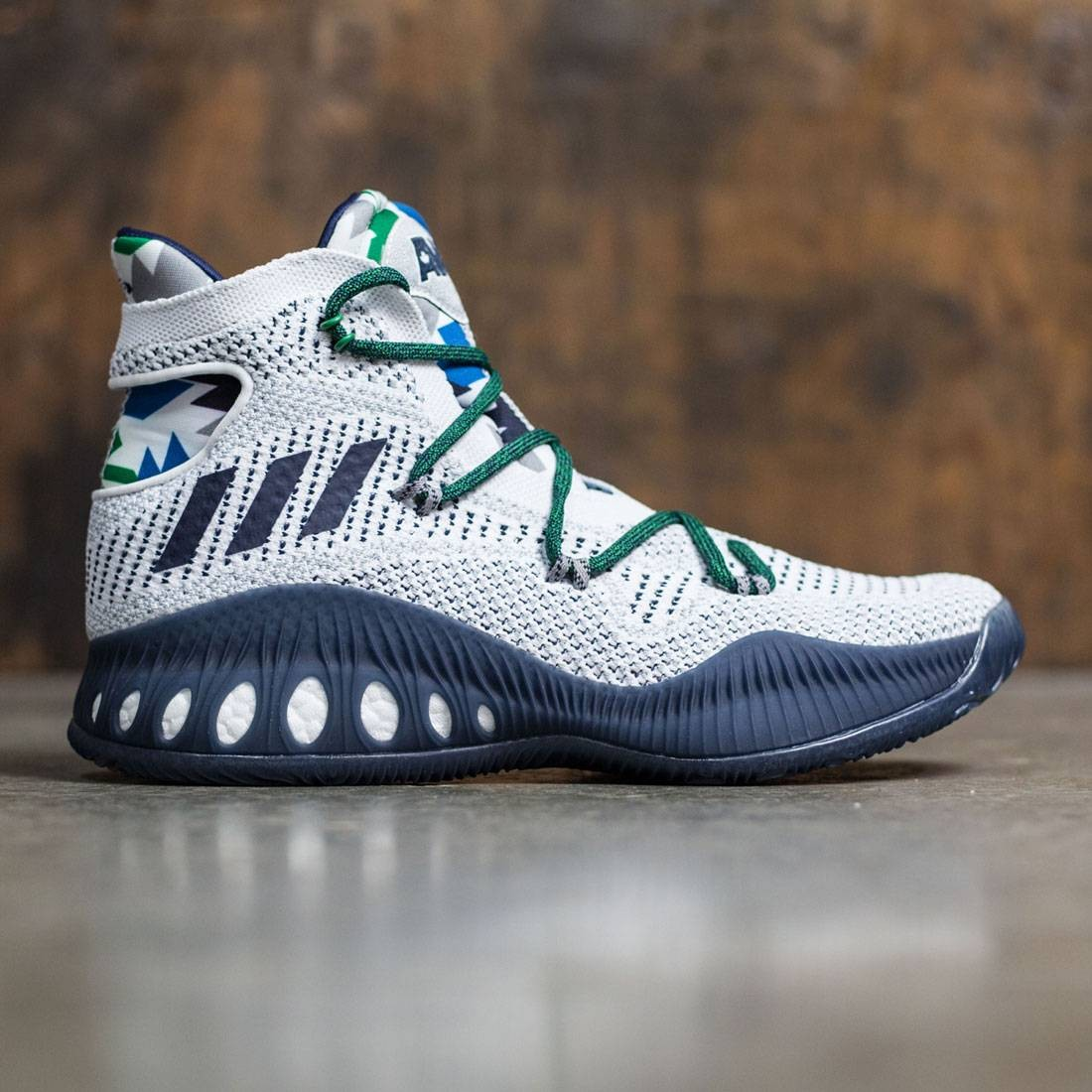 huge discount 27ee6 5c18a Adidas Men Crazy Explosive Primeknit white collegiate navy multi solid grey