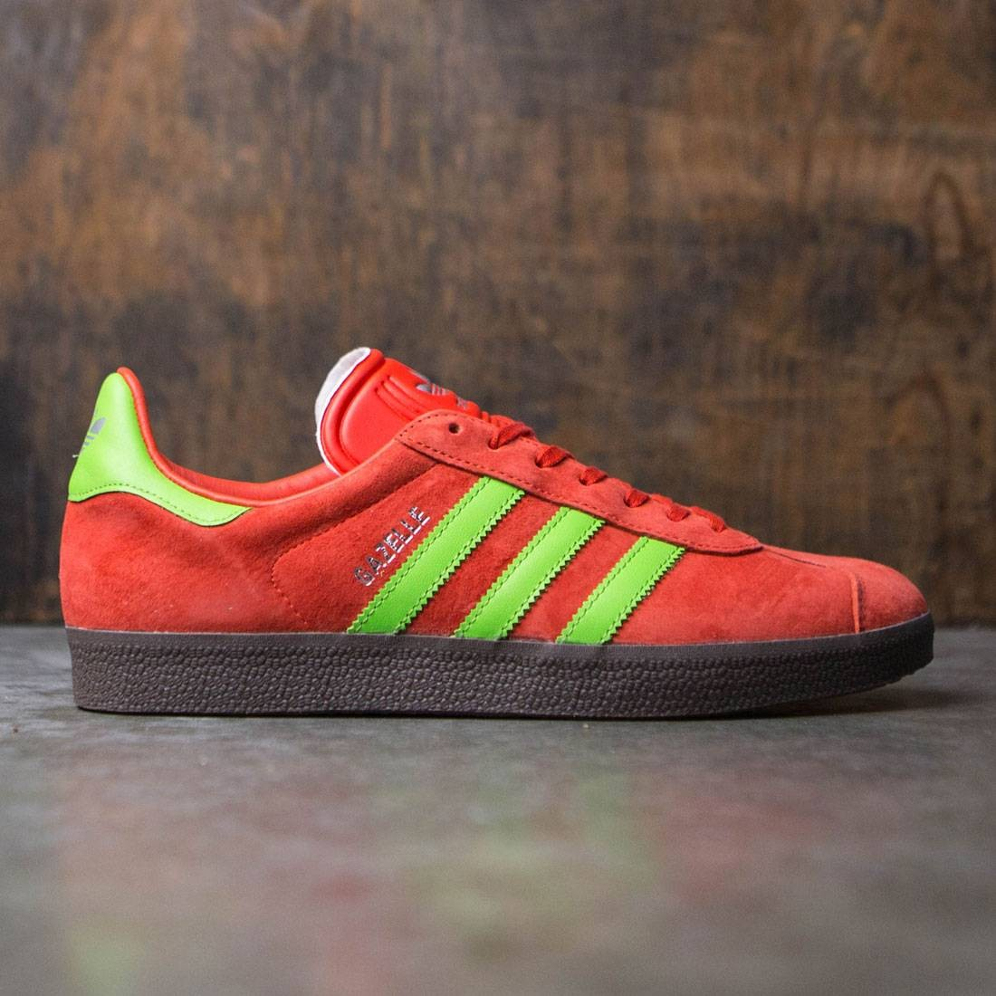 e2af45873eef Adidas Men Gazelle red semi solar green gum