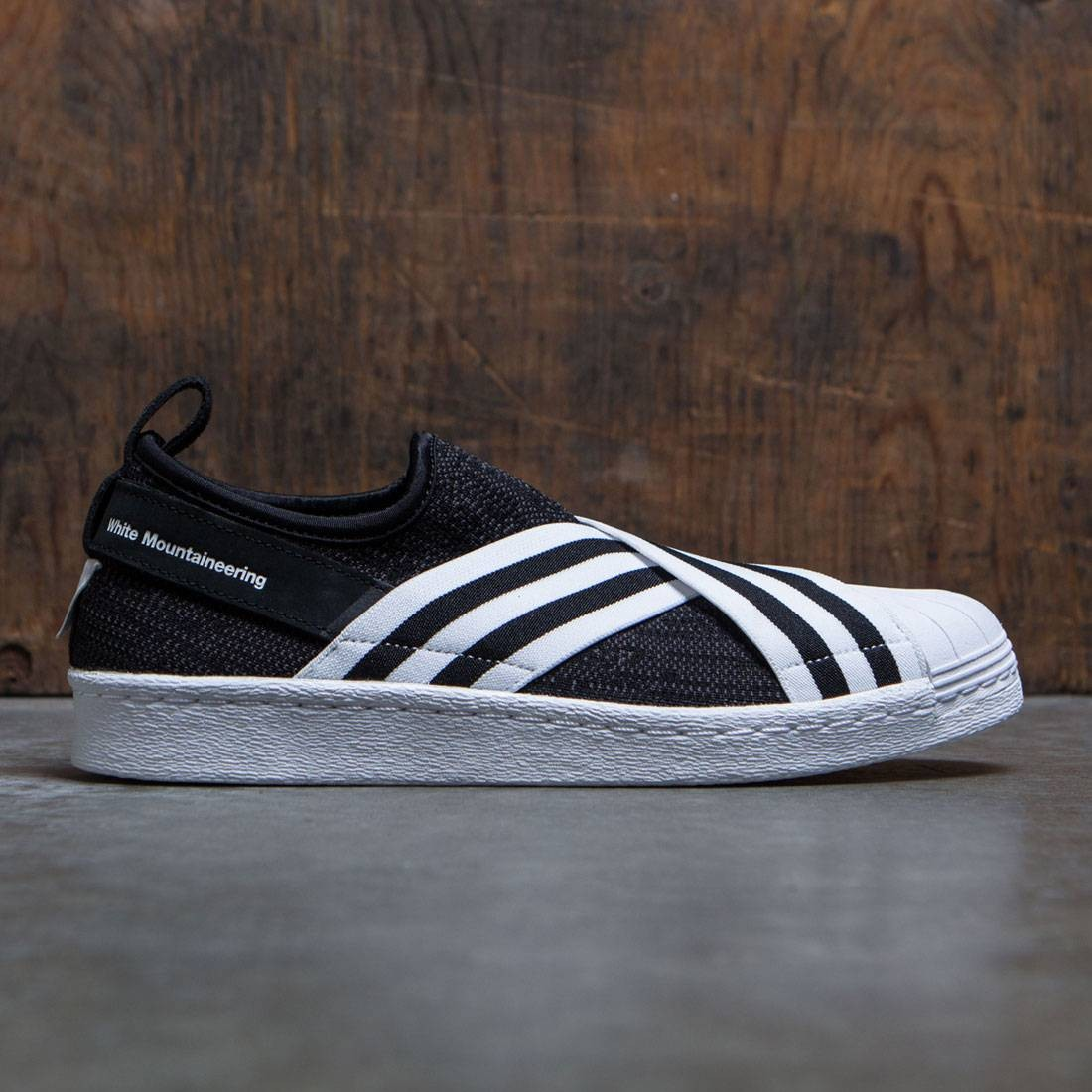 c3395a223cb1 Adidas Men White Mountaineering Superstar Slip-On Primeknit black core black  footwear white