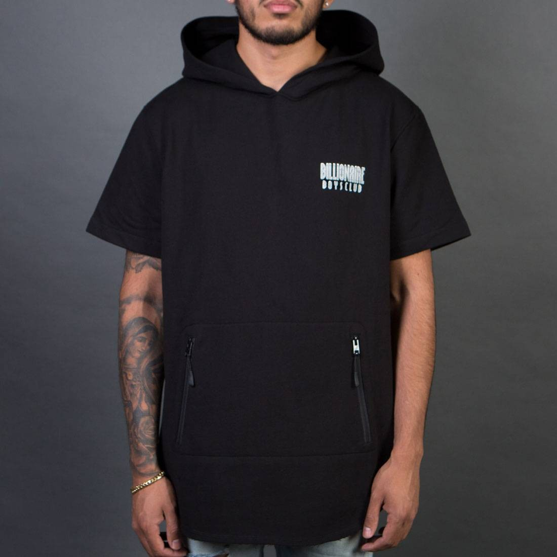 Billionaire Boys Club Men Breakers Short Sleeve Hoody (black)
