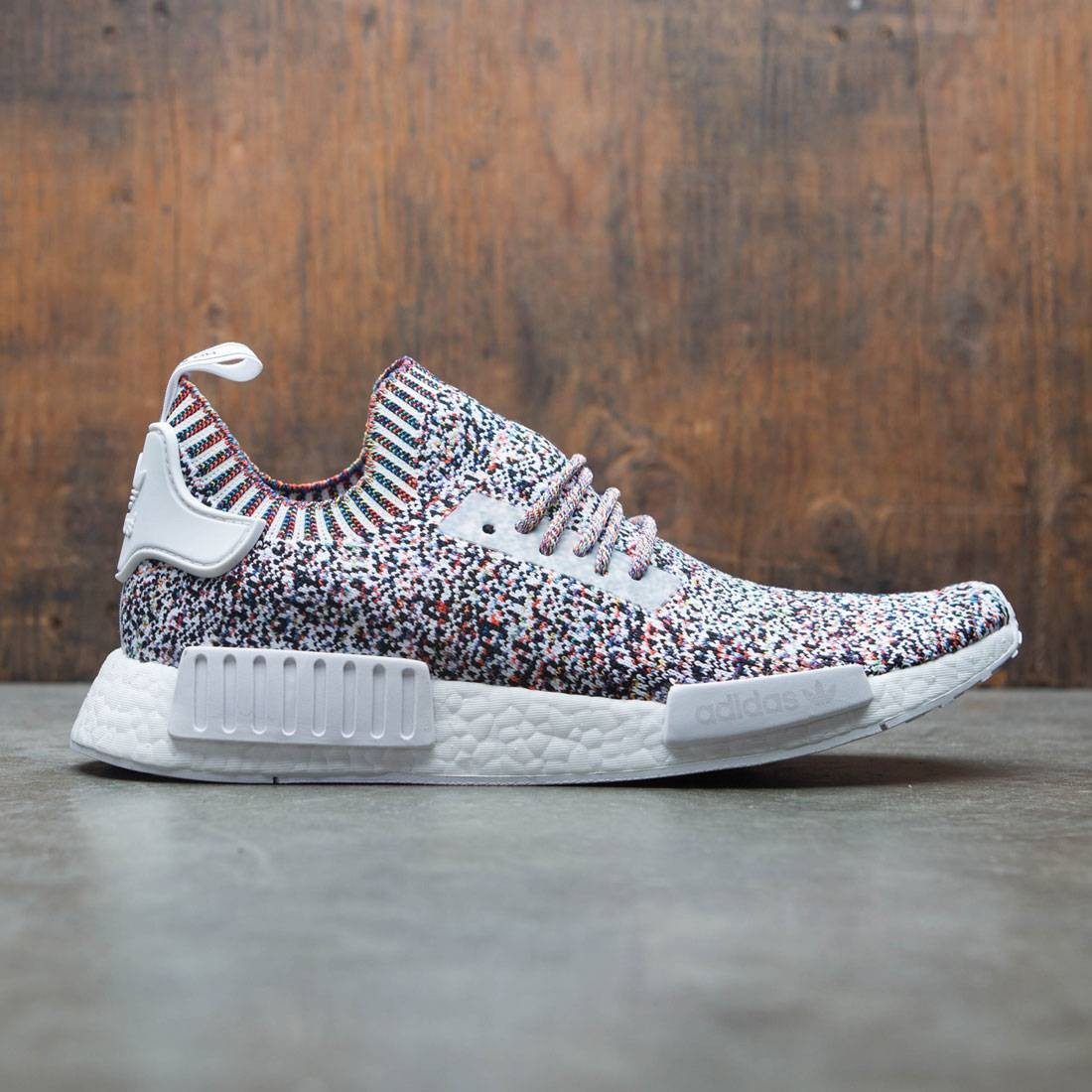 Adidas Men NMD R1 Primeknit - Static (white / chalk white)