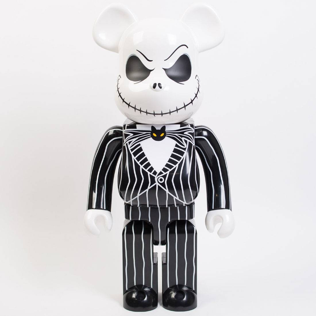 medicom the nightmare before christmas jack skellington 1000 bearbrick figure black - Christmas Jack Skellington
