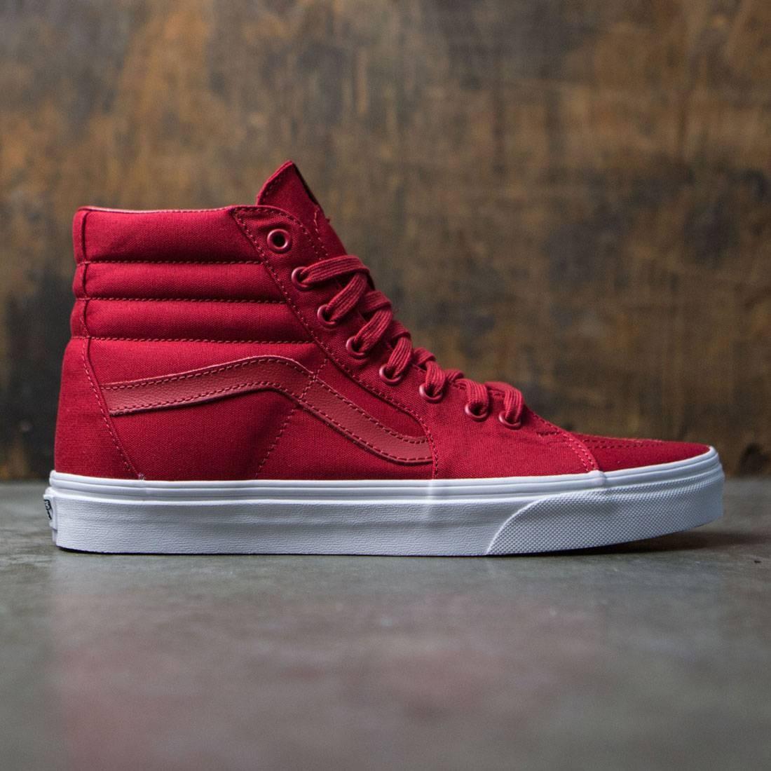 7103f132ad Vans Men Sk8-Hi - Mono Canvas red