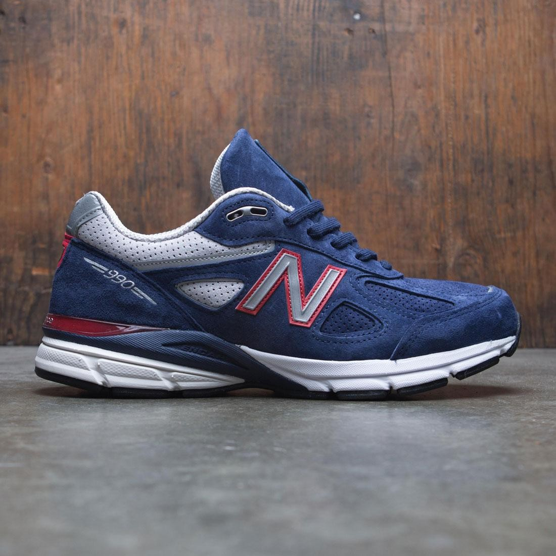 sports shoes 5e51a 31c01 New Balance Men 990v4 M990BR4 - Made In USA (navy / pigment / red)