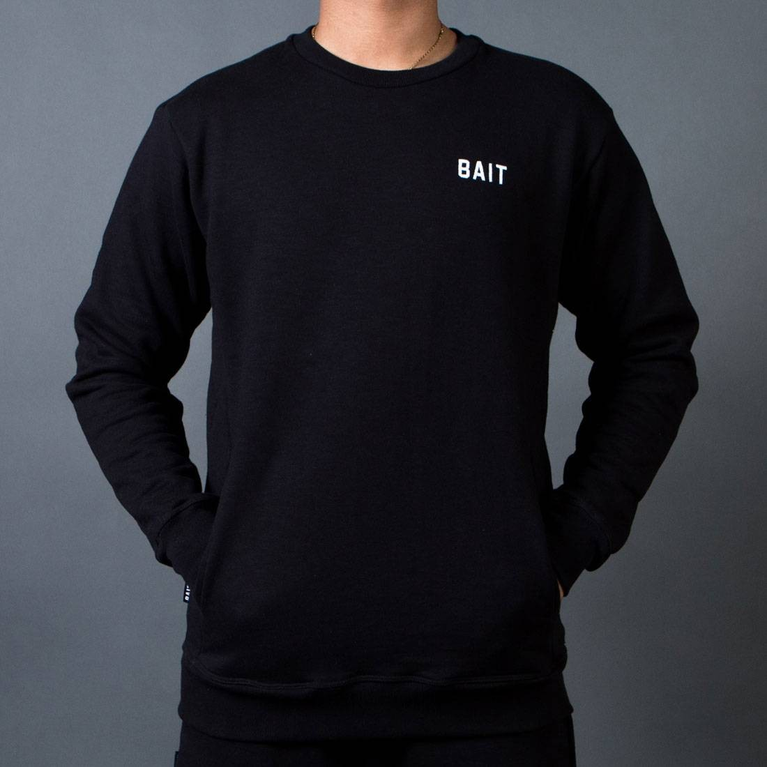 BAIT Men French Terry Crewneck Sweater - Made In LA (black)