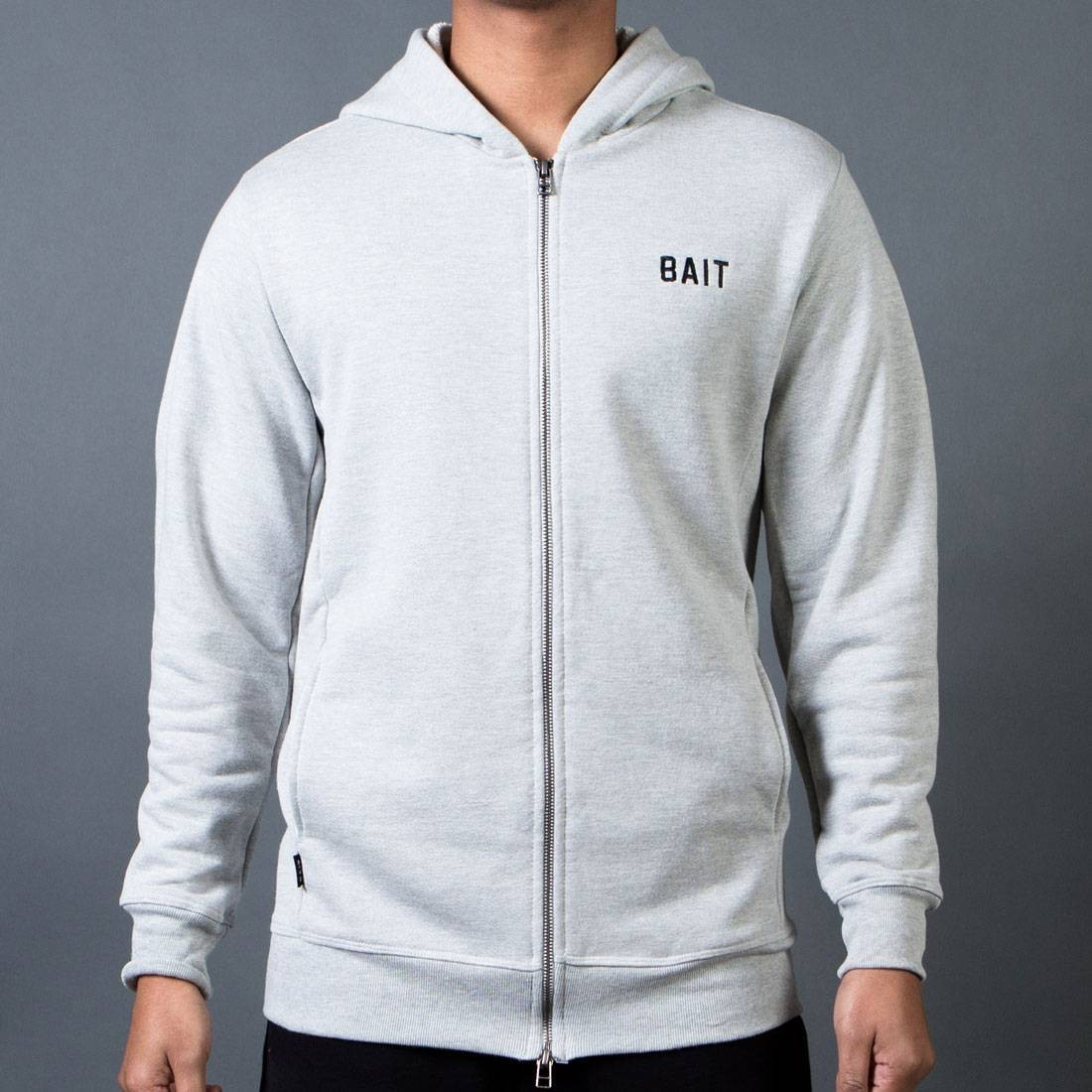 BAIT Men French Terry Hoody - Made In LA (gray / heather)