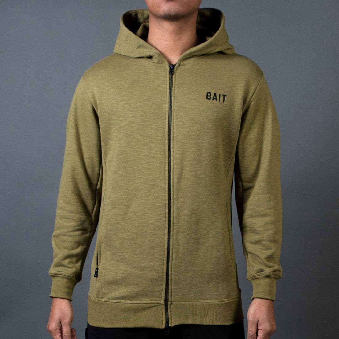 BAIT Men French Terry Hoody - Made In LA (olive)