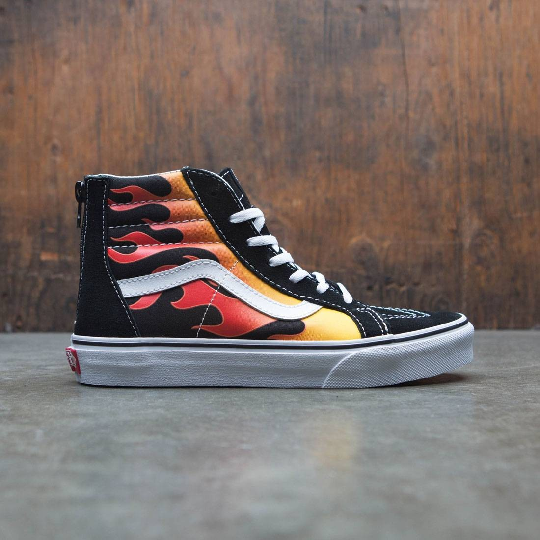 Vans Big Kids SK8-Hi Zip - Flame black red b8b73541c