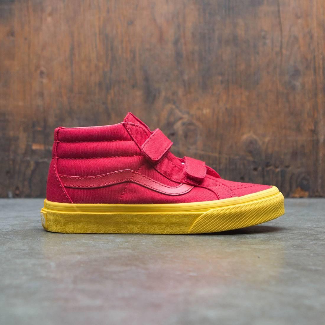 Vans Big Kids Sk8-Mid Reissue V red gold