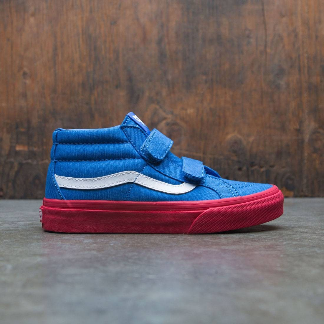 Vans Big Kids Sk8-Mid Reissue V (blue / red cosplay)