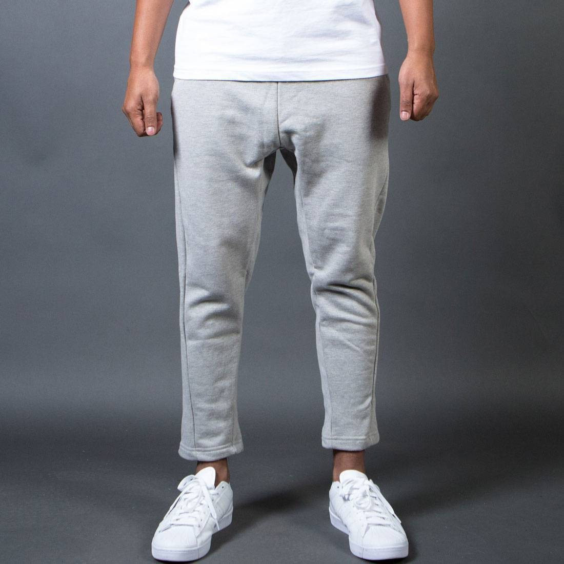 BAIT Men French Terry Japan Pants - Made In LA (gray / heather)
