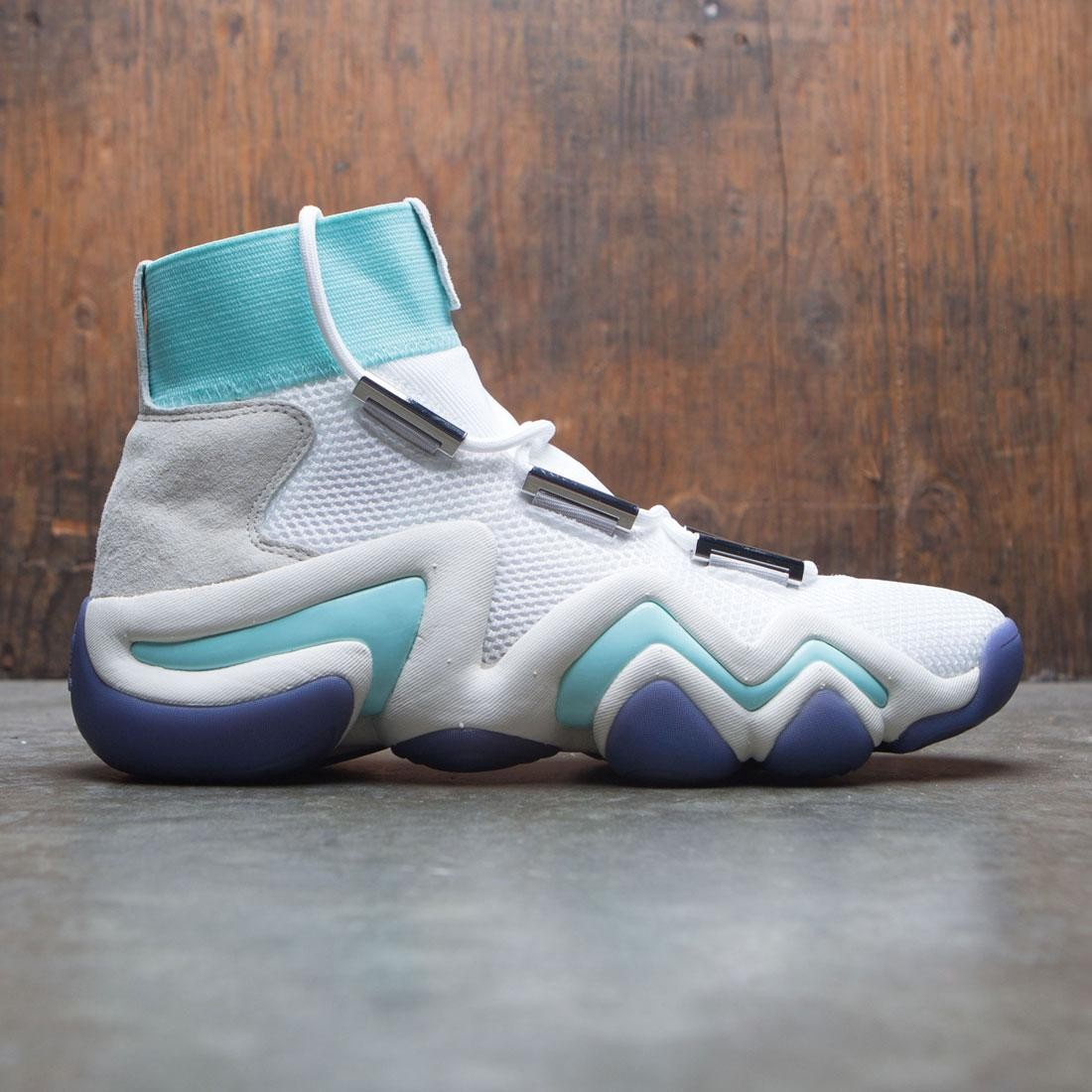 brand new b558b bef1c Adidas Consortium x Nice Kicks Men Crazy 8 AD white off white energy aqua