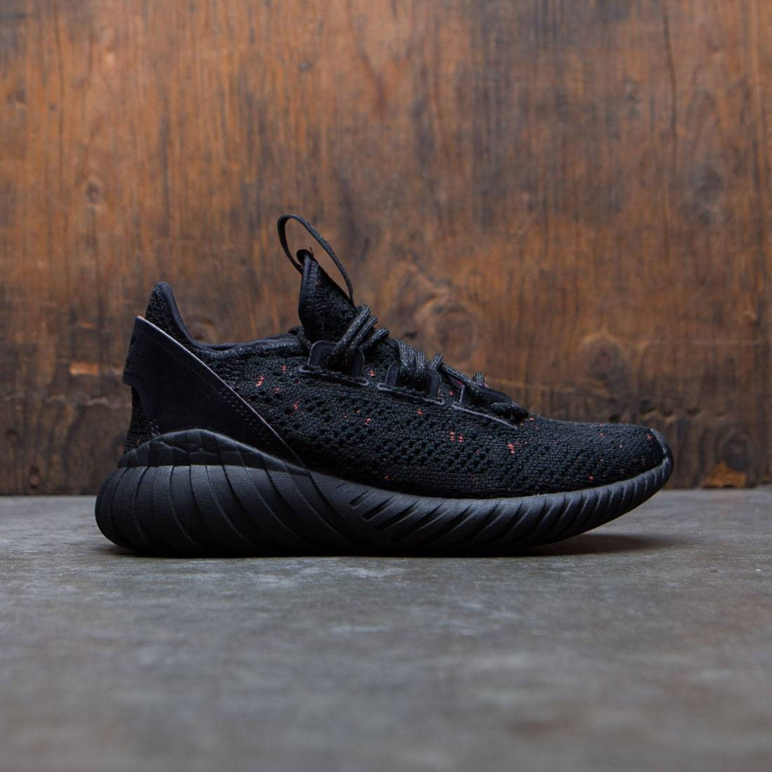 quality official shop exclusive range Adidas Big Kids Tubular Doom Sock Primeknit J (black / core black / trace  olive)