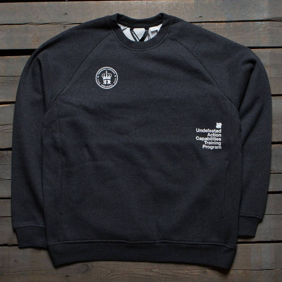 Undefeated x SYR Men SYR LS Technical Crew Sweater (black / heather)