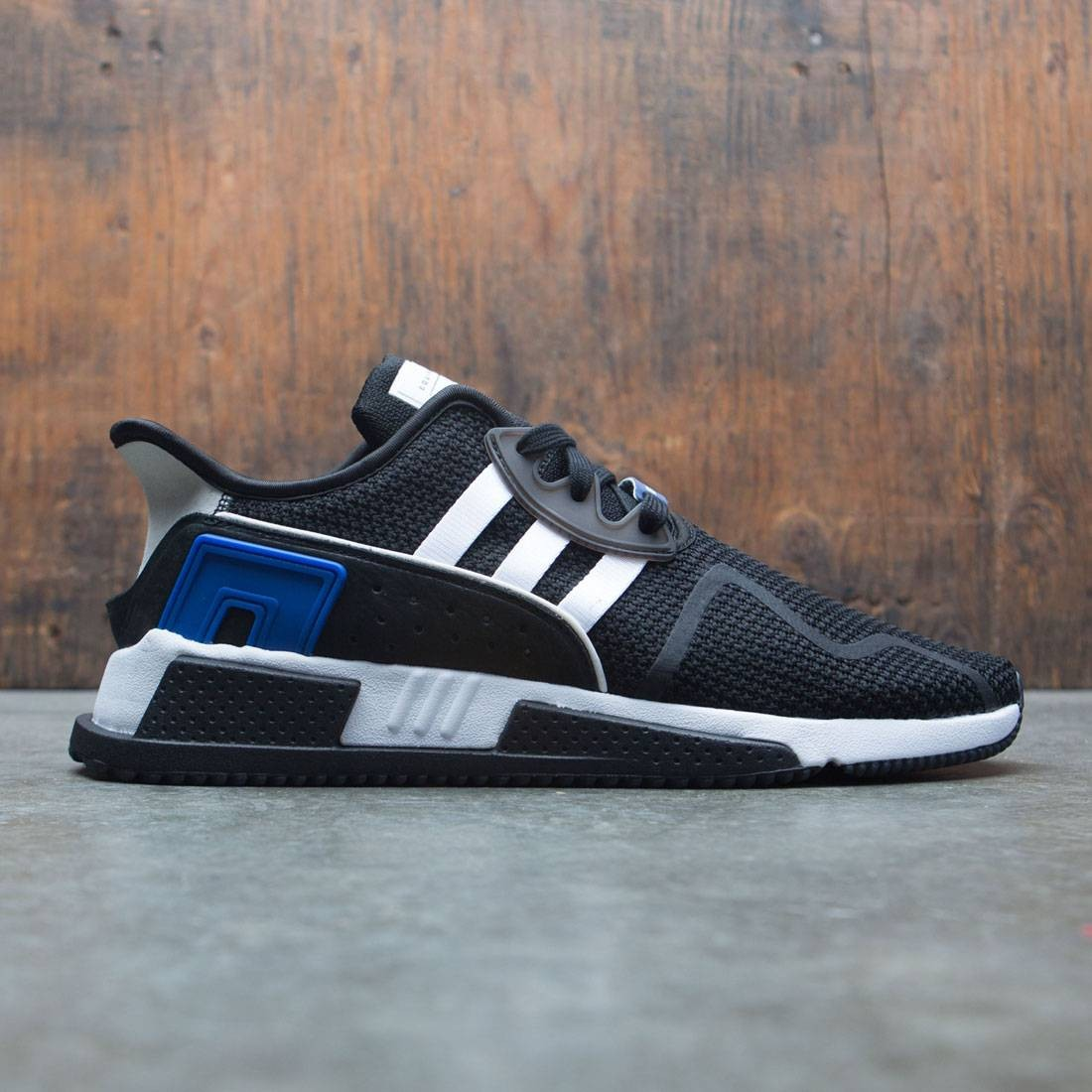 on sale 698ea 0a6bd Adidas Men EQT Cushion ADV (black / footwear white / collegiate royal)