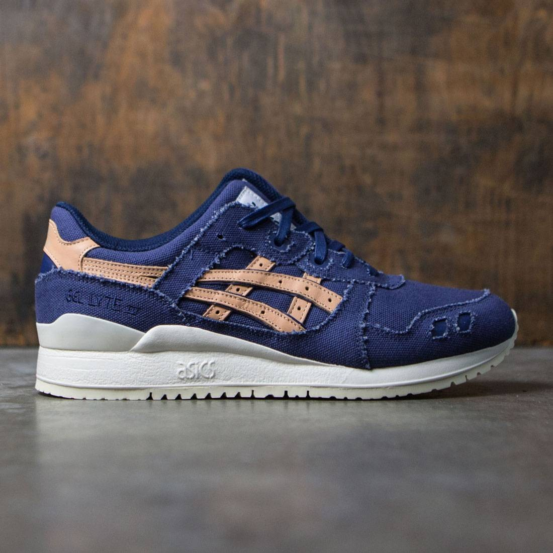 size 40 db50b 6abf0 Asics Tiger Men Gel-Lyte III (blue / indigo blue / tan)