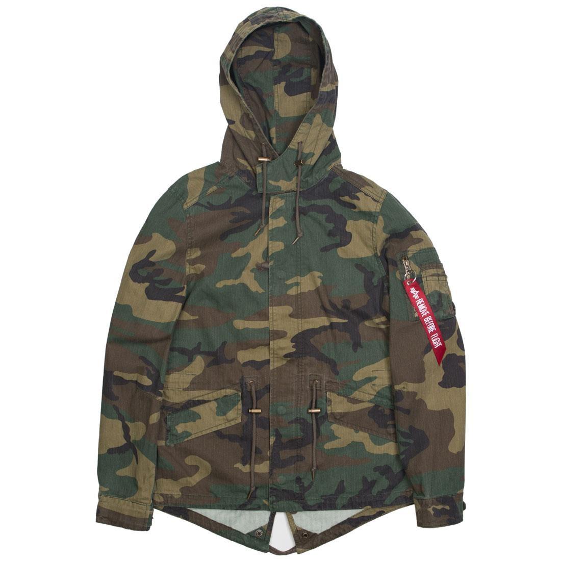 designer fashion 91a63 99678 Alpha Industries Women Swoop Fishtail Coat (camo / woodland)
