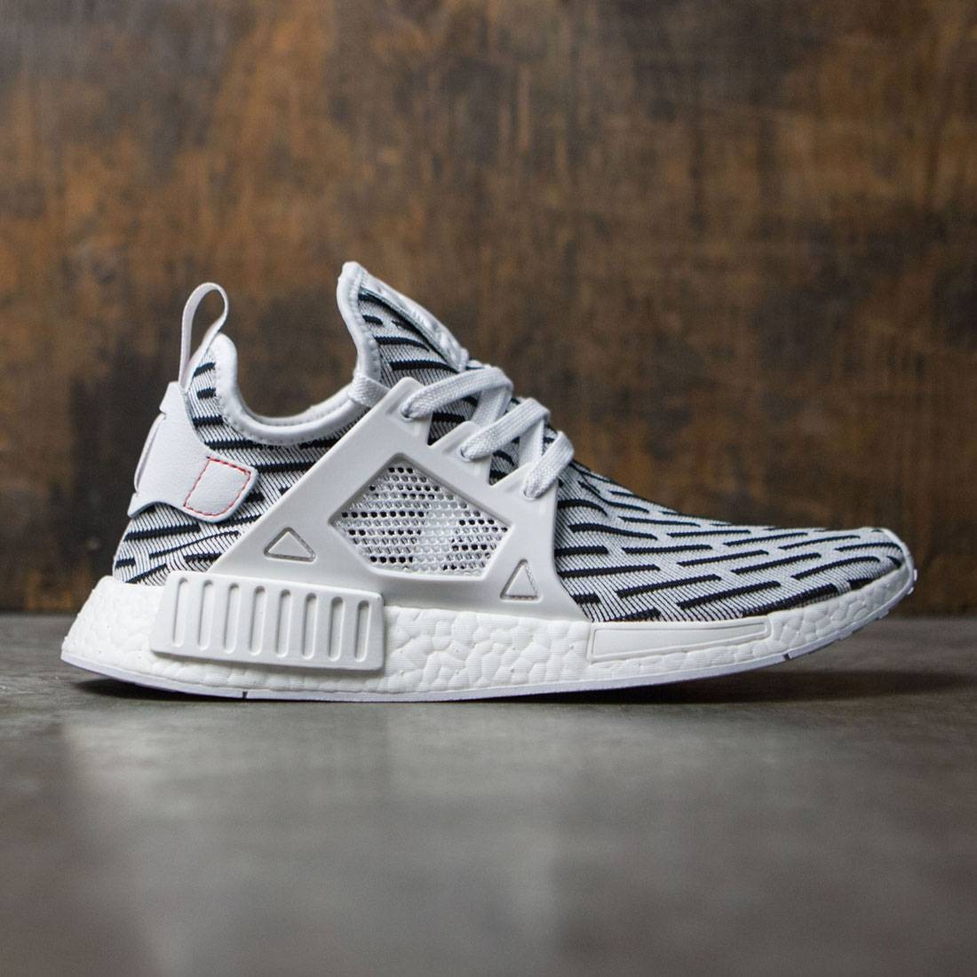 Adidas Men NMD XR1 Primeknit white footwear white core red 01f7d4c28