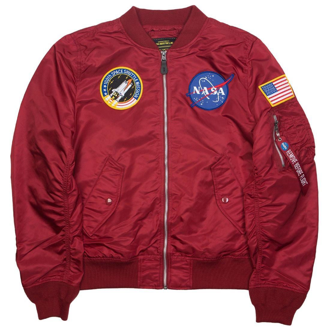 Alpha Industries Men L2B Nasa Jacket (red / commander)