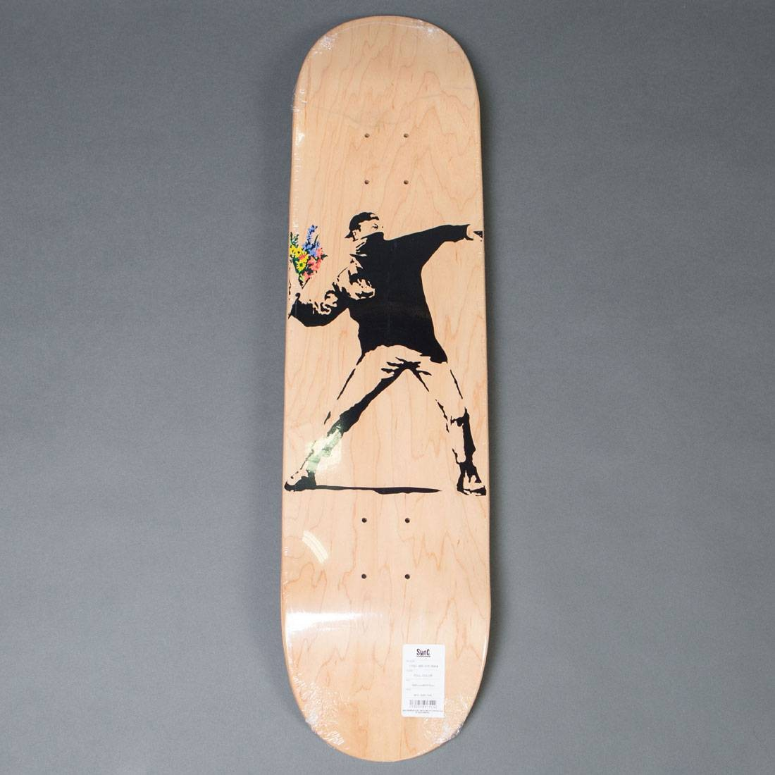 Medicom x SYNC Brandalism Flower Bomber Skateboard Deck (tan)