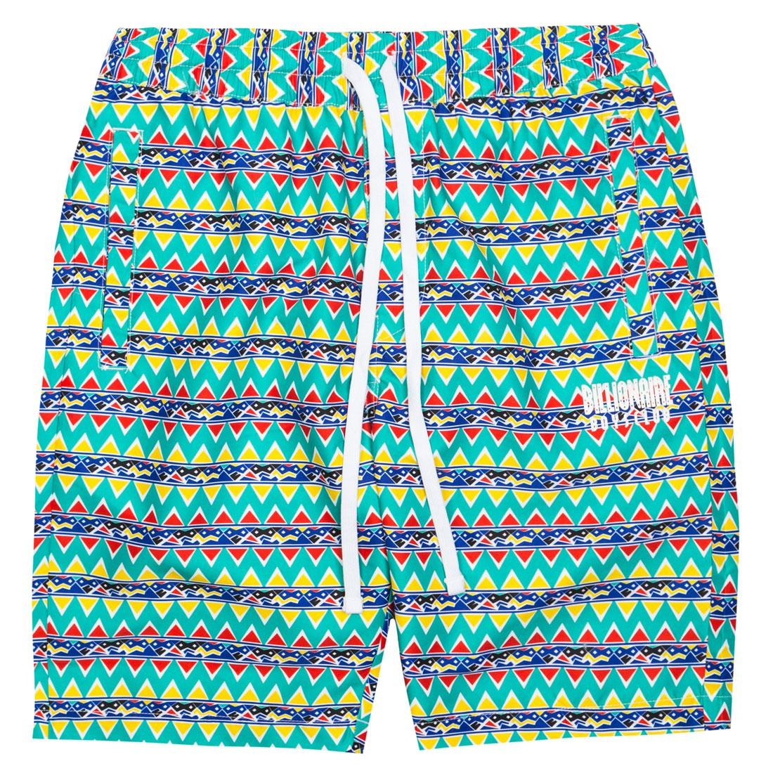 efc8e40afa64 Billionaire Boys Club Men Bel Air Shorts green white pattern