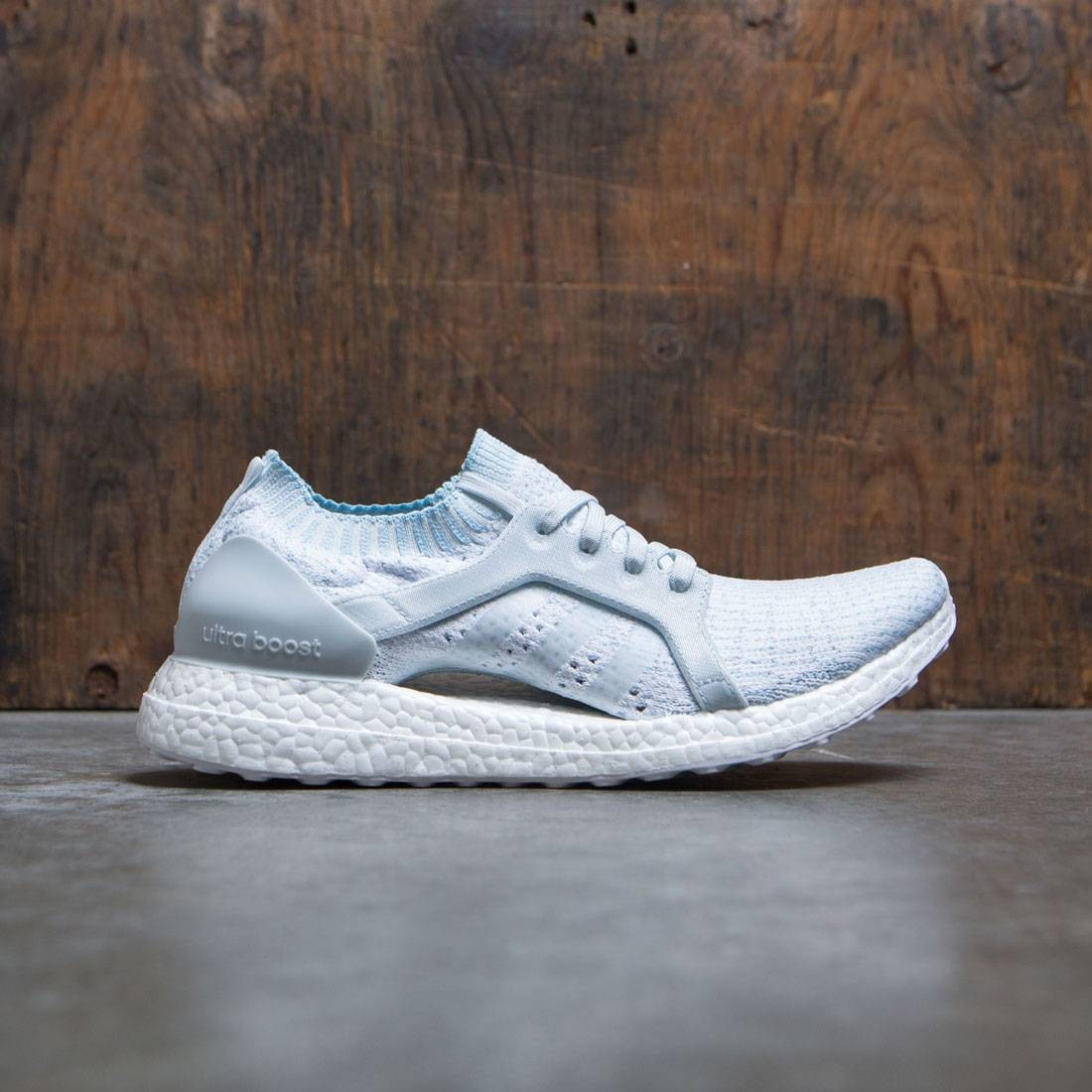 low priced 84564 f21eb Adidas Women UltraBOOST X Parley (blue / icey blue / footwear white)