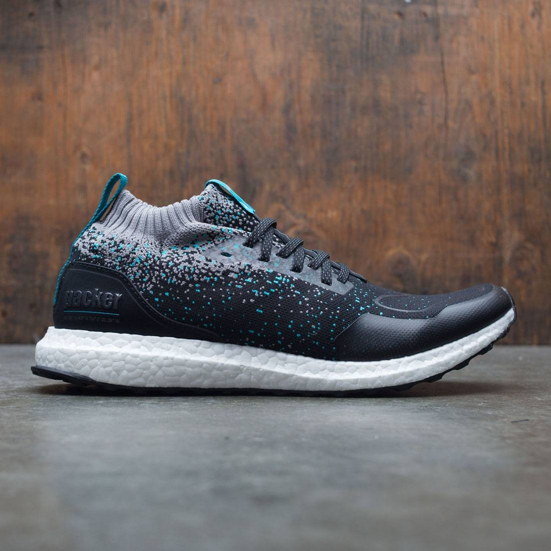 2d51ab7a6418 Adidas Consortium x Packer x Solebox Men UltraBOOST Mid Sneaker Exchange  black core black energy blue