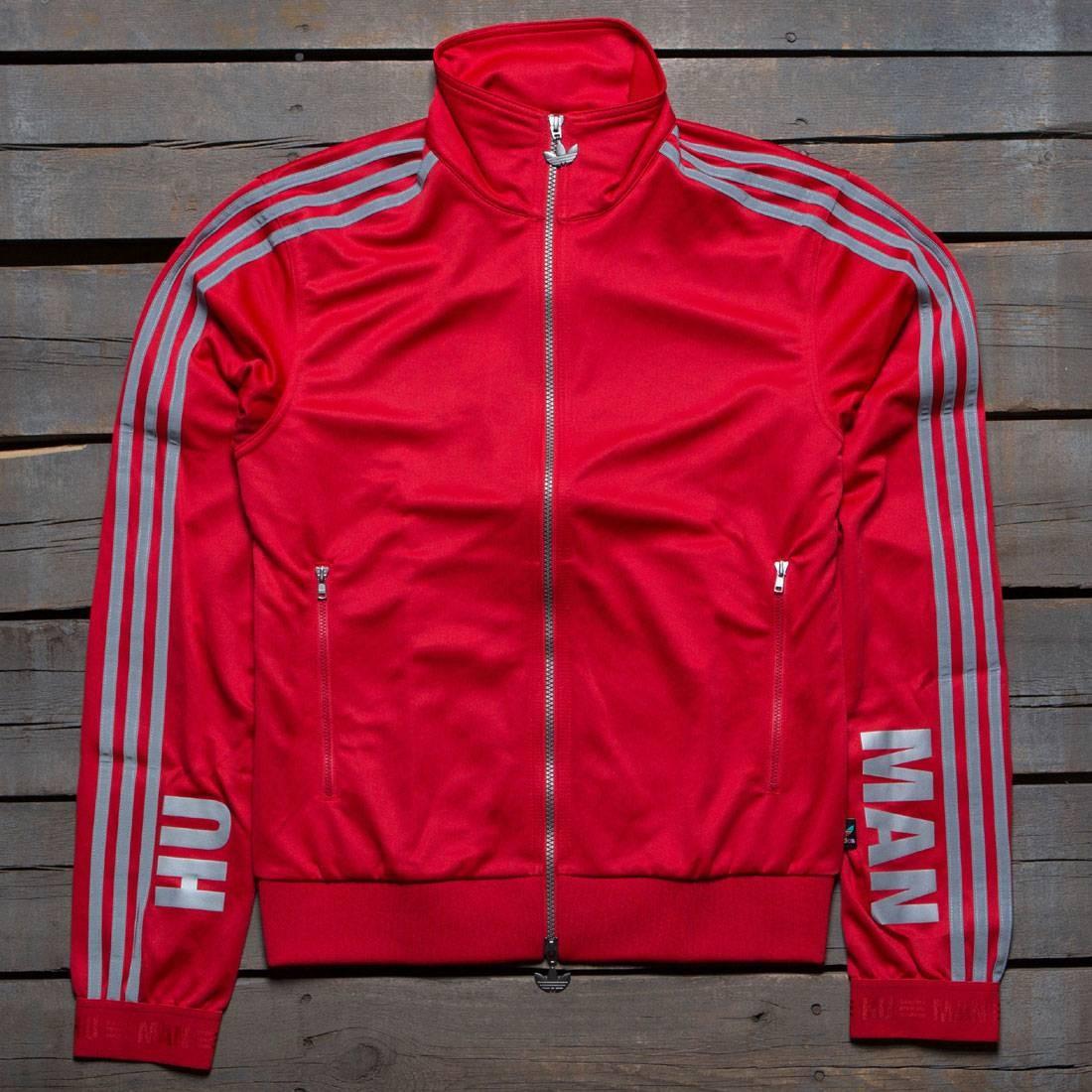 9d4a837a6593d Adidas x Pharrell Williams Men Hu Race Track Jacket red scarlet
