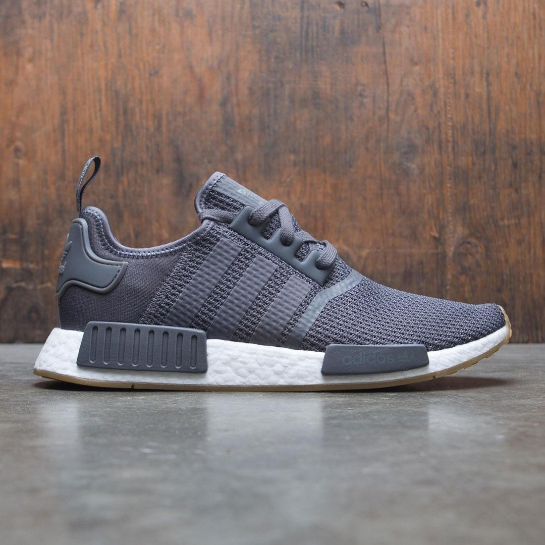 0495760fa00a7 Adidas Men NMD R1 gray grey five core black