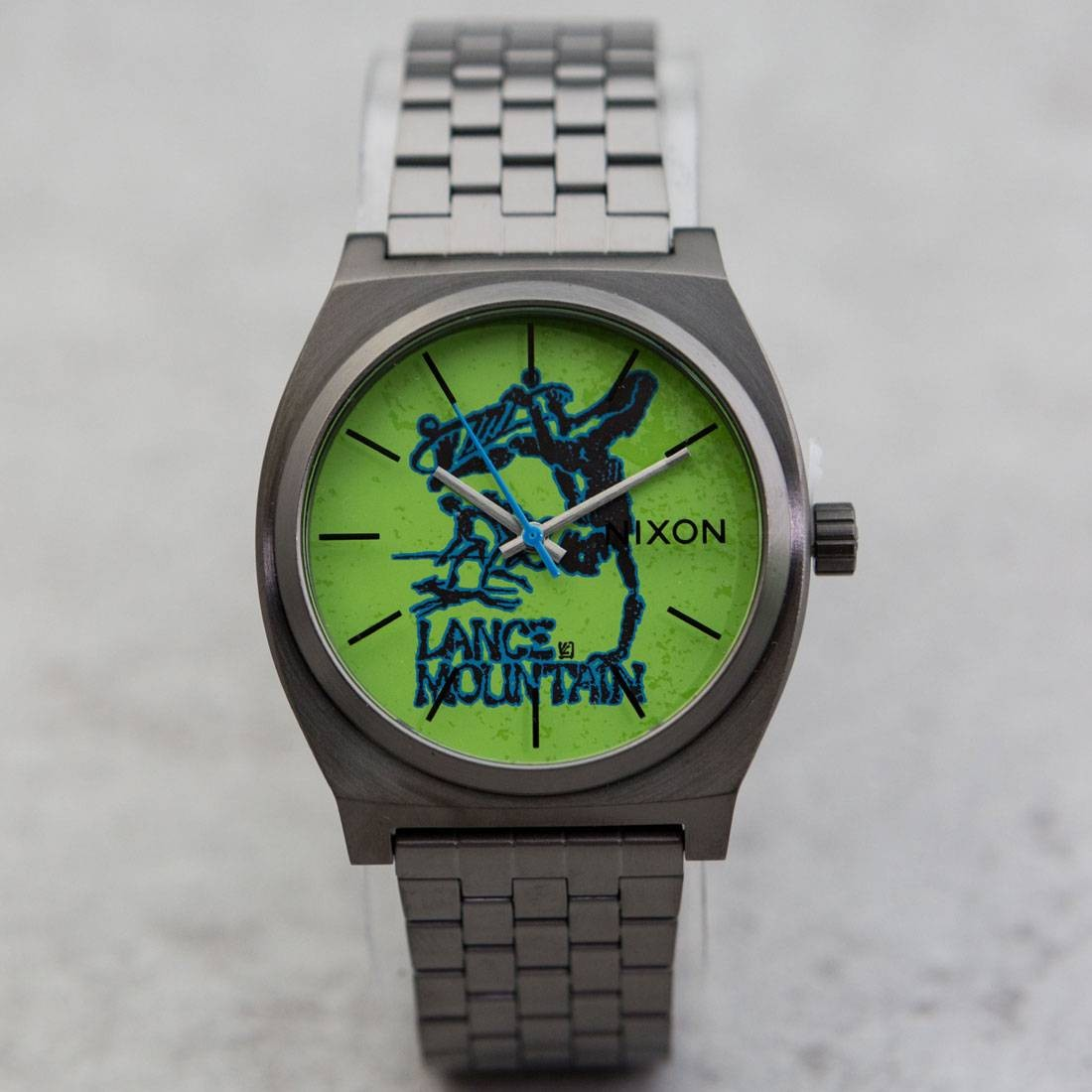 Nixon Time Teller Watch - Bones Brigade Lance Mountain (silver / gunmetal)