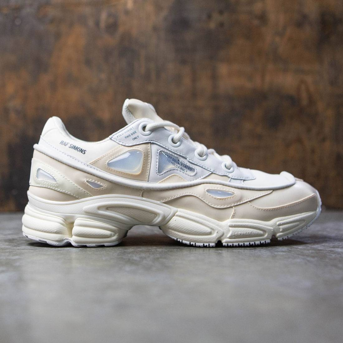 huge selection of aad4d ec62b Adidas x Raf Simons Men Ozweego Bunny white cream white crystal white core  black