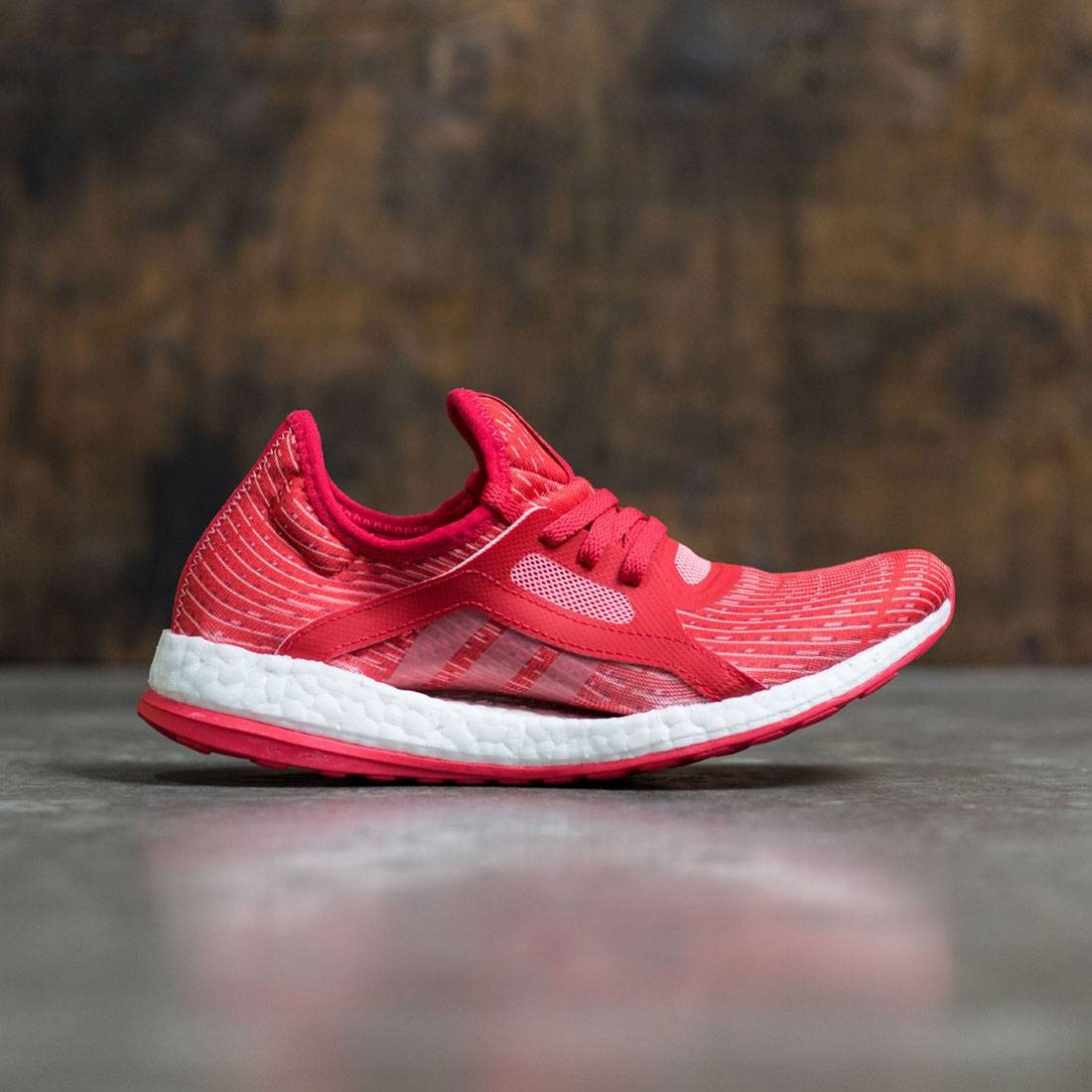 897dd0a39d3d1 Adidas Women Pure Boost X red ray red vapour pink footwear white