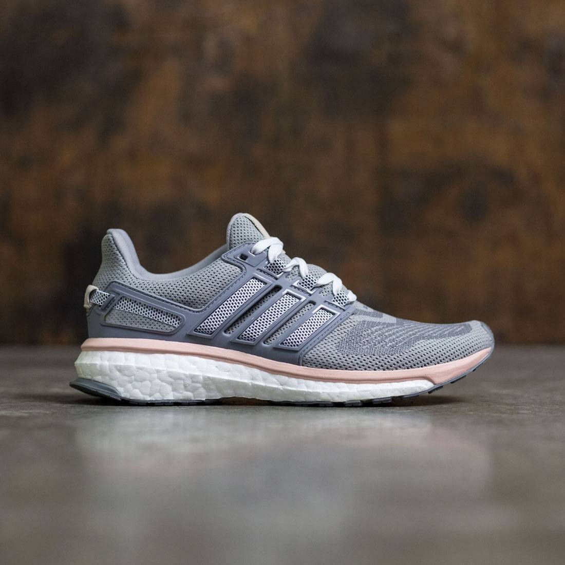 Borradura Térmico recuperar  Adidas Women Energy Boost 3 gray mid grey night navy vapour pink