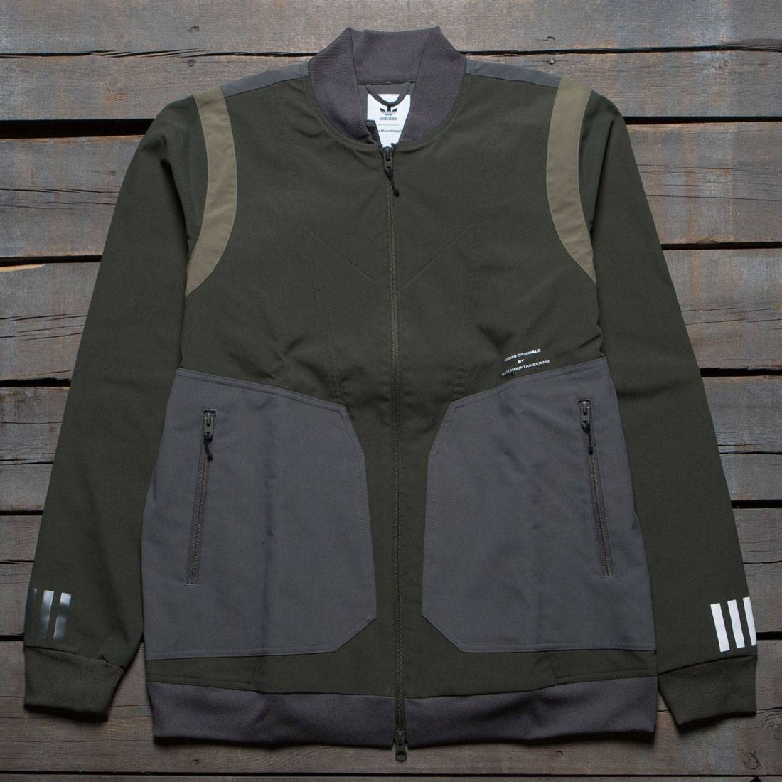 Adidas Men White Mountaineering Varsity Jacket Olive Night Cargo