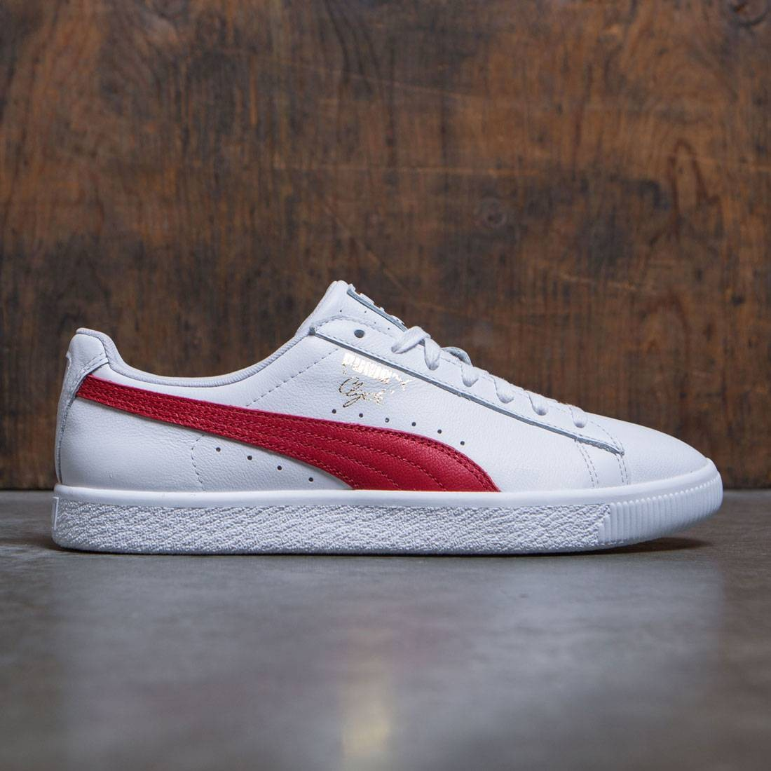 buy online 50bf0 62924 Puma Men Clyde Core - Leather Foil (white / red)