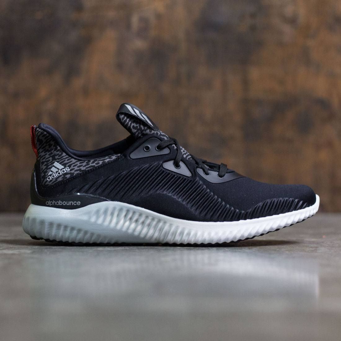 low priced 98684 39203 Adidas Men Alphabounce black core black silver metallic footwear white