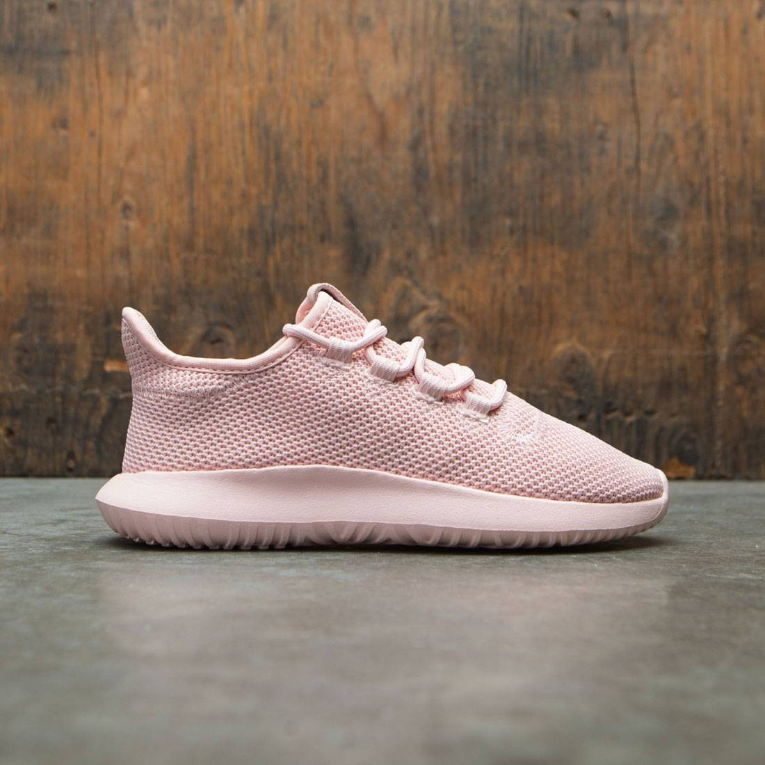 new styles 313e0 a2876 Adidas Big Kids Tubular Shadow Knit J (pink / vapour pink)