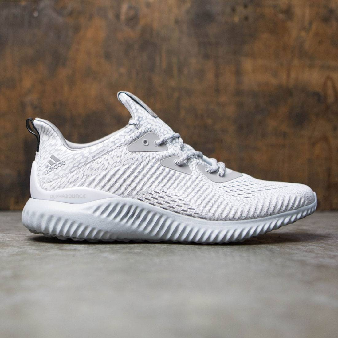 b26ee8712fcd6 Adidas Men Alphabounce AMS gray clear grey solid grey core black