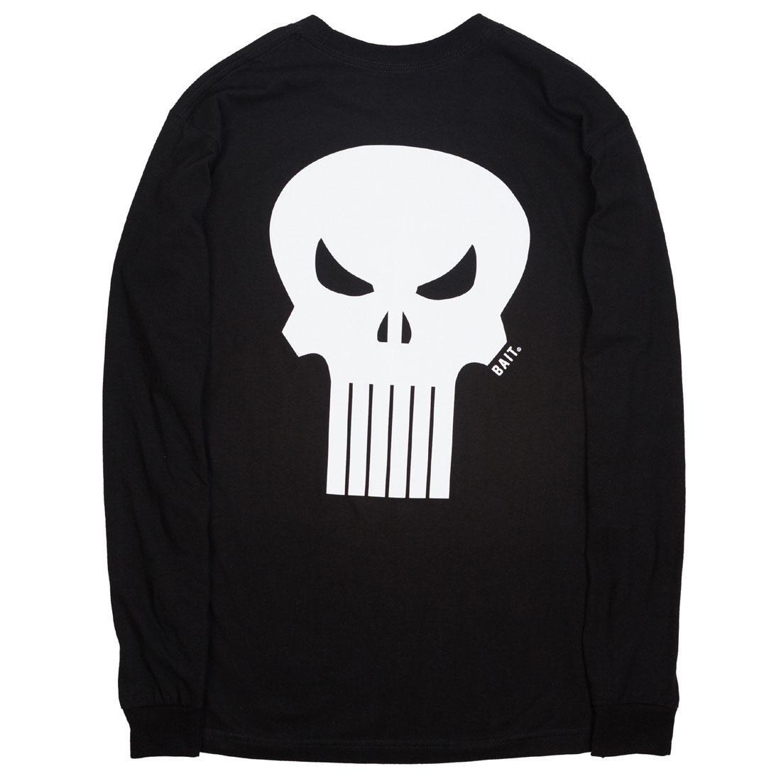 BAIT x Marvel Punisher Men Skull Long Sleeve Tee (black)