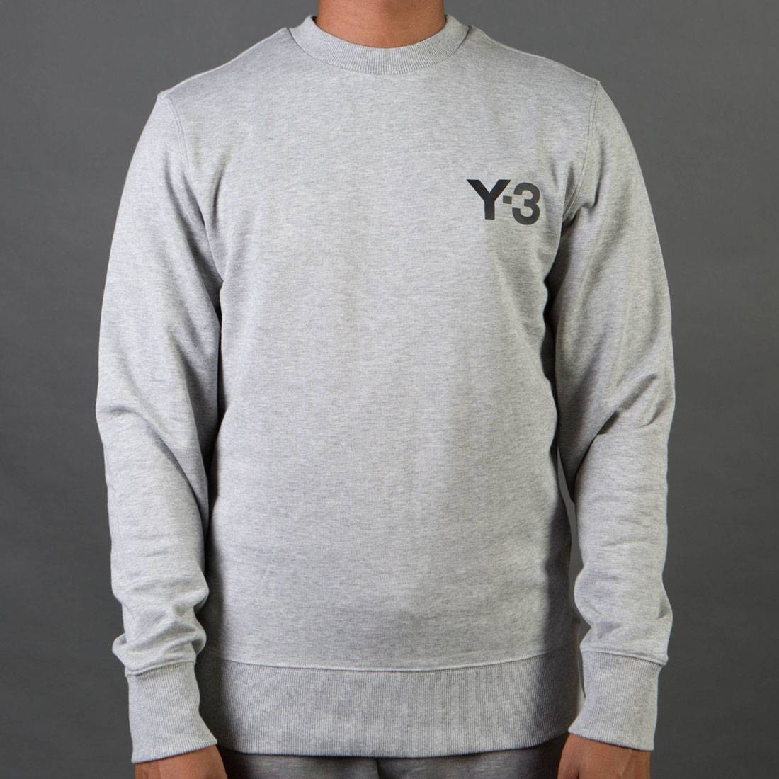 Adidas Y-3 Men Classic Sweater (gray / medium grey heather)
