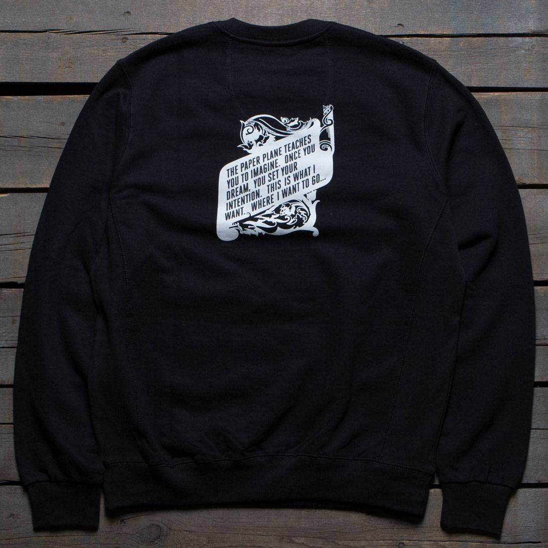 Paper Planes Men The Constitution Crewneck Sweater (black)