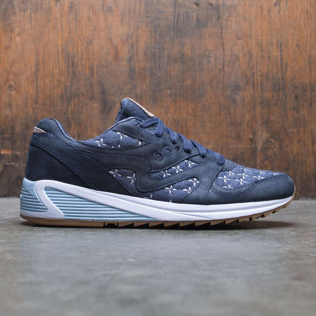 Saucony x Up There Men Grid 8000 - Sashiko (blue / black)