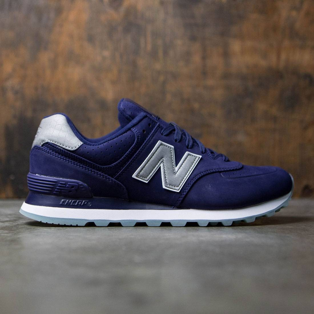 new balance 574 white blu navy
