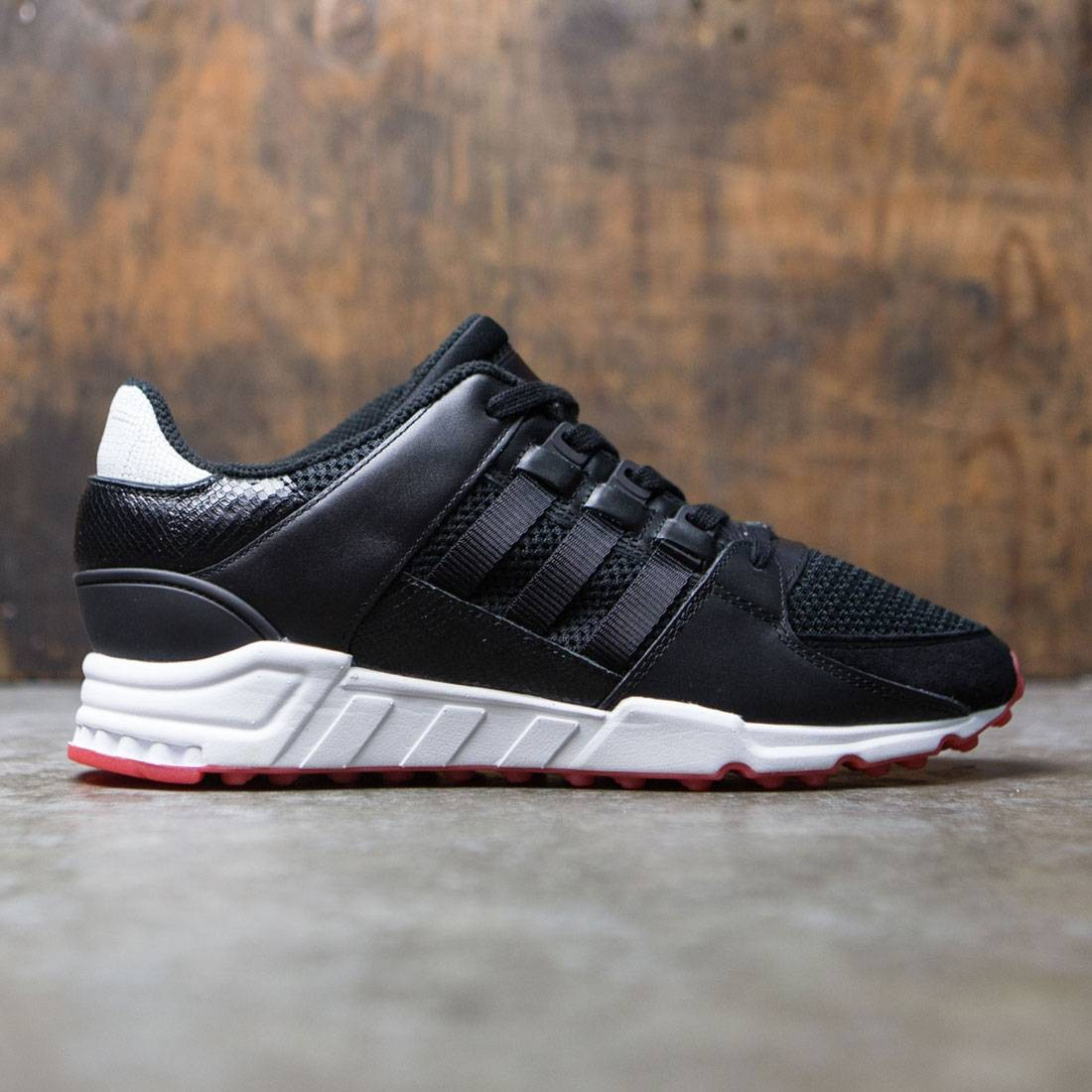 huge discount a9eb9 74a74 Adidas Men EQT Support RF black core black turbo red