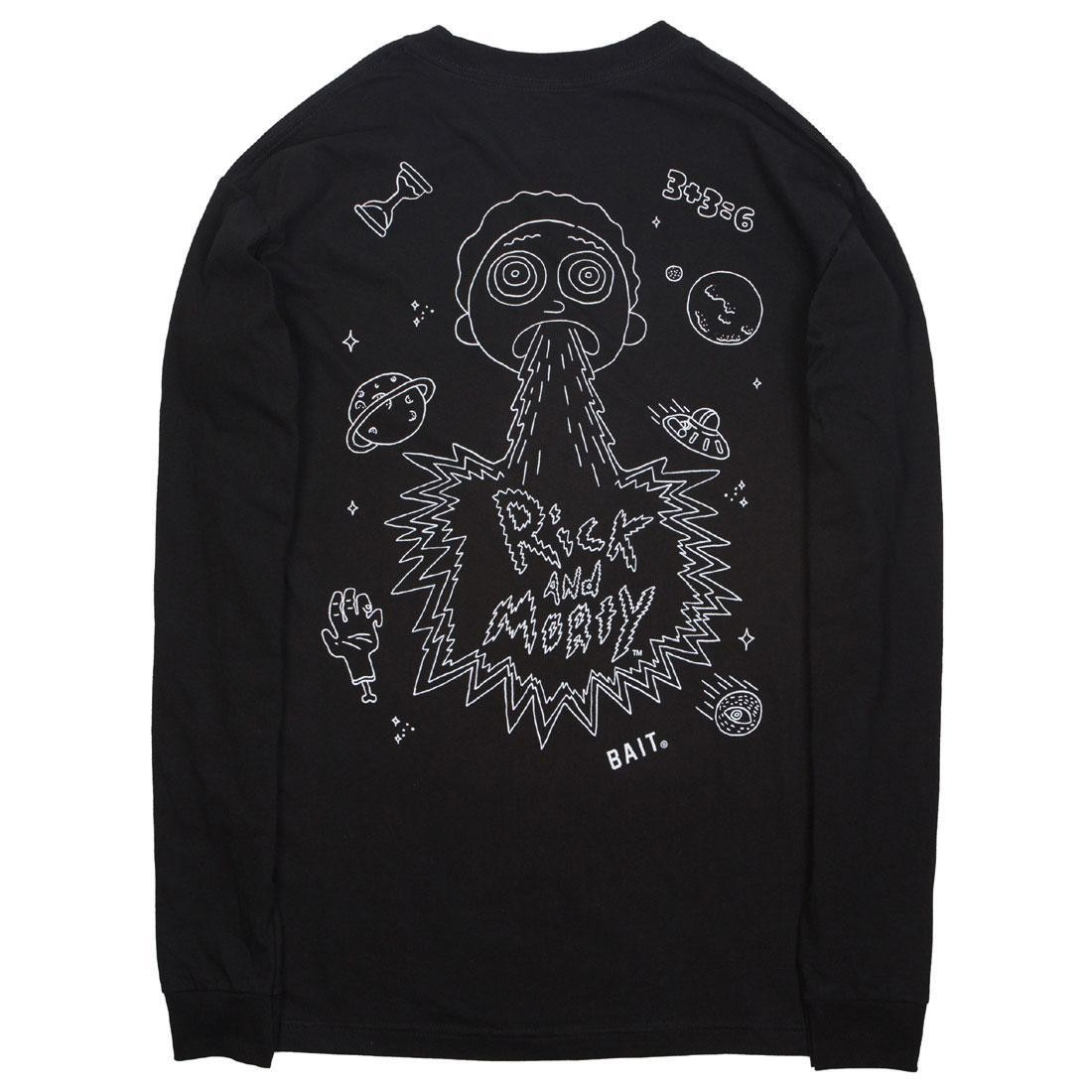 BAIT x Rick and Morty Men Barf Long Sleeve Tee (black)