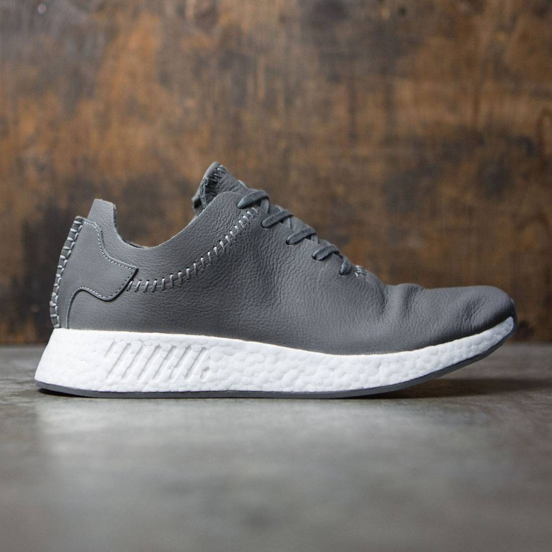 low priced a6216 7aa18 Adidas x Wings + Horns Men NMD R2 Leather (gray / ash / off white)